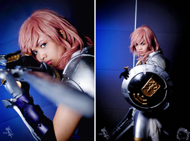 Final Fantasy XIII-2: The Knight by JoviClaire