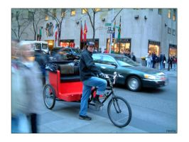 New York City Becak by hh