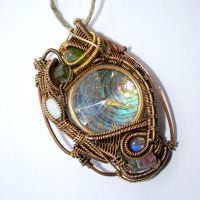 Copper and Brass Watch Pendant by AscensionConceptions