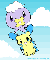 AR: Drifloon and Minun by Buneary
