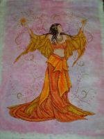 Fire Goddess Cross Stitch by Tishounette