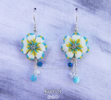 Ice Earrings _long charms by MelinaCreations
