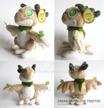 Cream Protector Traptor Plushie by cartoonist