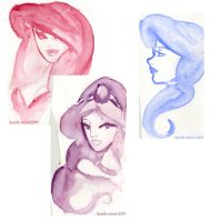 Disney Gal sketches by dsoloud