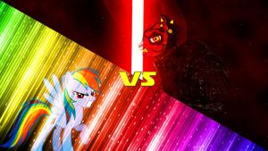 Request: Rainbow Dash Versus Darth Maul Pony by Mr-Kennedy92