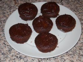 Chocolate Cupcakes by Bisected8