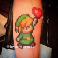 16-Bit Link by brynntattoos