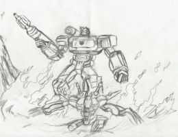 Soundwave and Ravage (war within version) by bluchurch