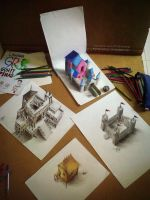 3d drawings by Arthur T. Cortez by ATCdrawings