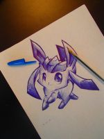 Glaceon by Silver-Artemis-Moon