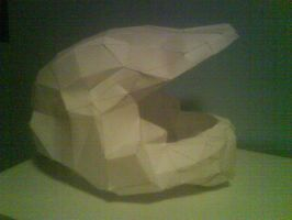 Master chief papercraft helmet by killero94