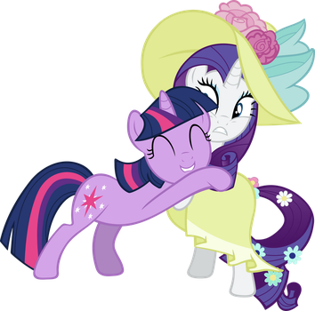 Request: Twilight hugging rarity by Pangbot