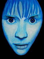 Blue face by ErikaVengeance