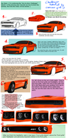 Tutorial, part 2 - coloring Challenger by camaro1