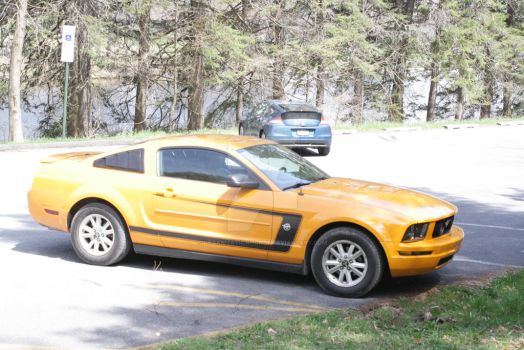 Yellow Ford Mustang by True-ChallengerGirl