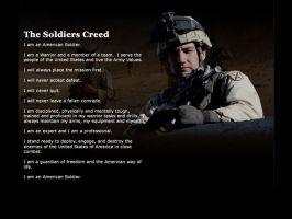 American soldier's creed by Lucan1714