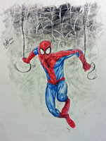 Spider-Man watercolor by CagsCreations