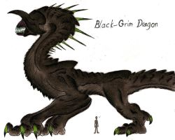 Black-Grim Dragon by MonsterKingOfKarmen