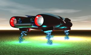 Tesla Electro-Discharge Hover Car by sixgun-fighter