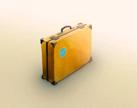 Briefcase, digital art, 2015 by Bobrovee