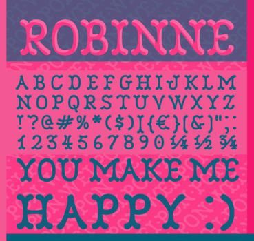Robinne Font by nymphont