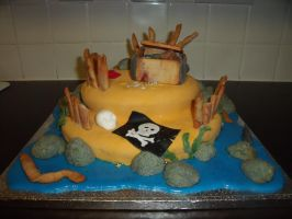 Pirate Island Cake 7 by BevisMusson