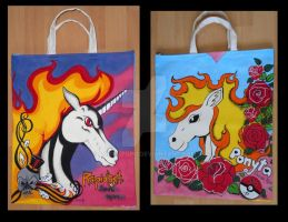 Ponyta and Rapidash - tote bag by aarre-pupu
