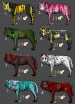 Wolf Adoptable Set 2 by VorpalBeast