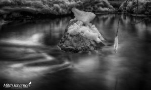The Floating Rock BW by mjohanson
