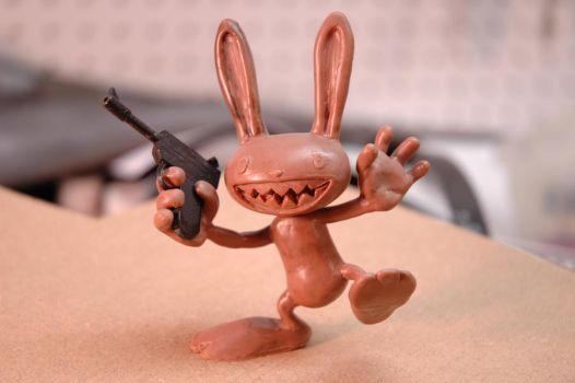 sam and max sculpture by Danosuke