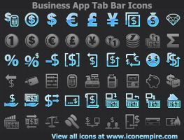 Business App Tab Bar Icons by Ikonod