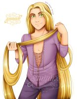 Art Trade - Rapunzel Gender Bender by Geminine-nyan