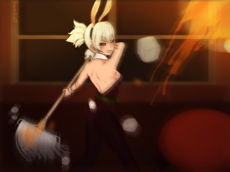 riven LOL as battle bunny - You're so annoy!! by hentaiko69