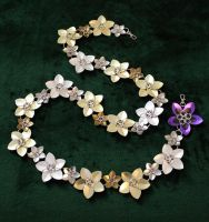 Alternating Scale Flower Belt by SerenFey