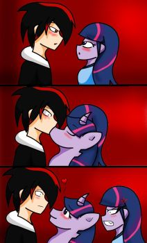 First kiss by Soul-Yagami64
