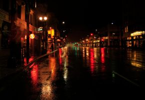 Pasadena Wet Lights by AndySerrano