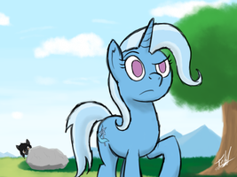 The Great and Powerful Trixie taking a walk by ToMaz777