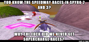 ( Spyro the Dragon ) Supercharge Races Meme by KrazyKari