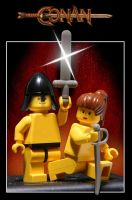 Lego Conan the Barbarian by halley