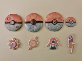 Steampunk Pokemon Trainer details by stefania-zee