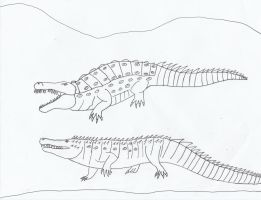 Deinosuchs and Purusaurus by Nevert013