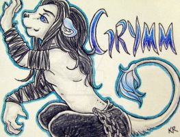 Grymm Badge Color Finished by ImaginaryFox