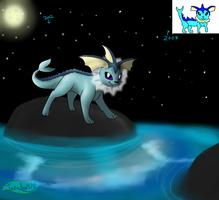 -ART IMPROVEMENT- Vaporeon by MochiFries