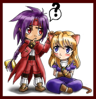 Chrno and Neko Rosette Chibis by amako-chan