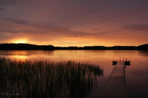 Dusk at the Lake by Pajunen