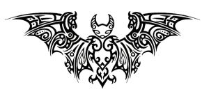 Tribal Bat Tattoo by Annikki
