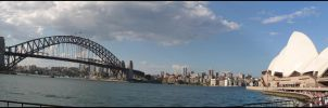Sydney Harbour- panoramic by Jezzy-Fezzy