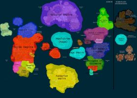 political Map of WoW by GeneralHelghast