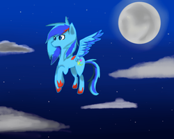 Flying at night by Nightstripes0987