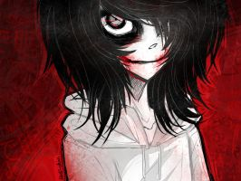 [Doodle] Jeff the Killer: Sleep into a sweet death by Nadi-Chan
